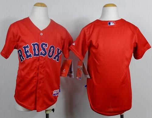 Red Sox Blank Red Cool Base Stitched Youth Baseball Jersey