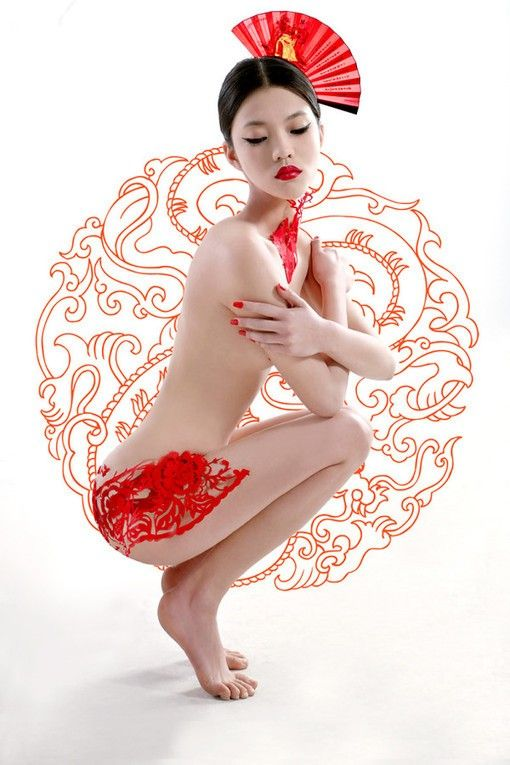 红 | Chinese Paper Cutting Pin-Up!