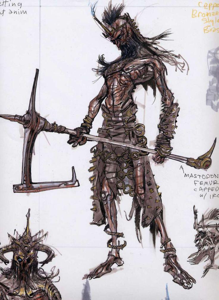 Skyrim Character Design Ideas : Draugr concepts concept art from the elder scrolls v