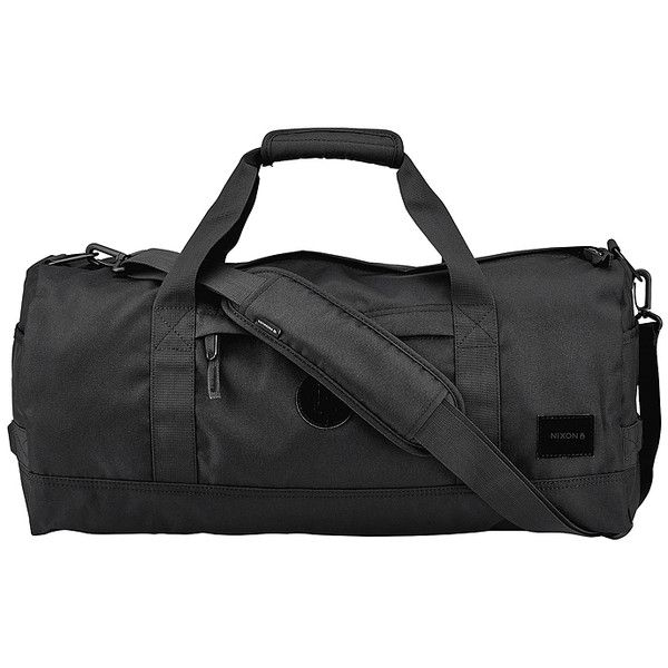 Nixon Pipes 32l Duffle Bag Black (165 BRL) ❤ liked on Polyvore featuring men's fashion, men's bags, bags, black, duffle bags, men, men's duffel bags, mens duffle bags and mens bags