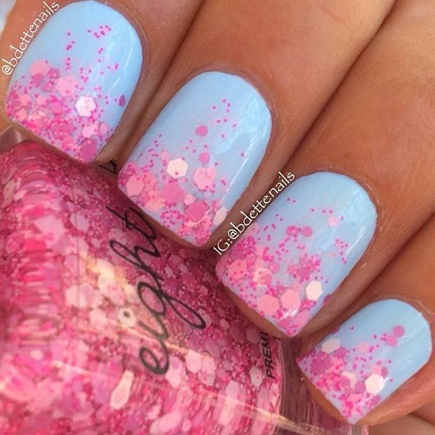 Blue And Pink Nails Pictures, Photos, and Images for Facebook, Tumblr, Pinterest, and Twitter