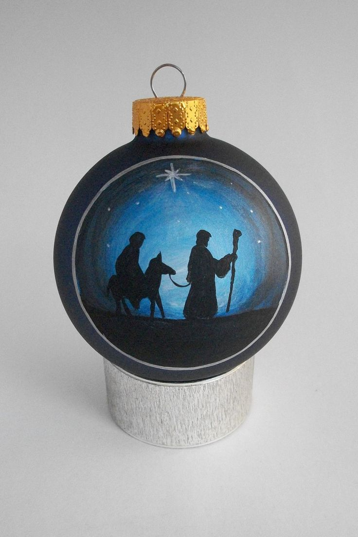 1000 ideas about hand painted ornaments on pinterest for O holy night decorations