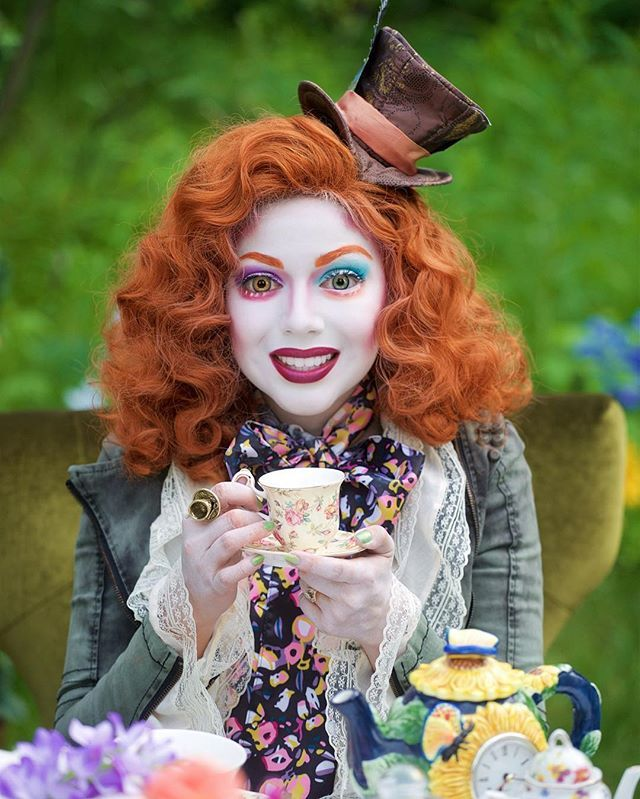 There is a place. Like no place on Earth. A land full of wonder, mystery, and danger! Some say to survive it, you need to be as mad as a hatter. Haha! Check out @nyxcosmetics for crazy cool  looks all this month! #ad #nyxcosmetics #makeup #madhatter
