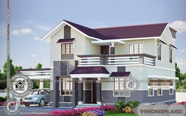 Double Story Facades With New Duplex Stylish Home Designs Collections Small House Design Simple Living Room Designs House Design Photos