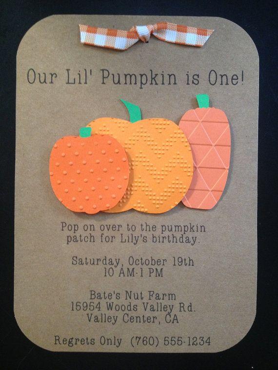 Pumpkin Patch Handmade Invitations Custom Made by SimpleandPosh