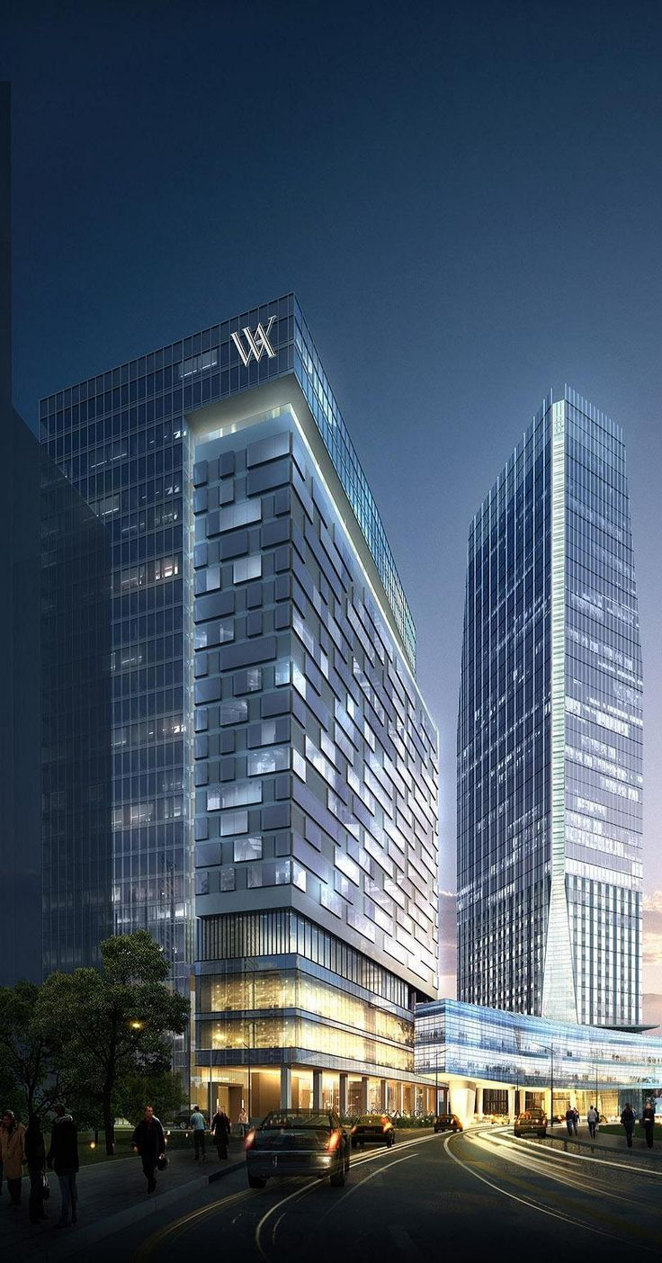 Waldorf Astoria Hotel and Office Tower, Mega Kuningan Complex, Jakarta, Indonesia by WOW Architects :: 48 floors, height 223m