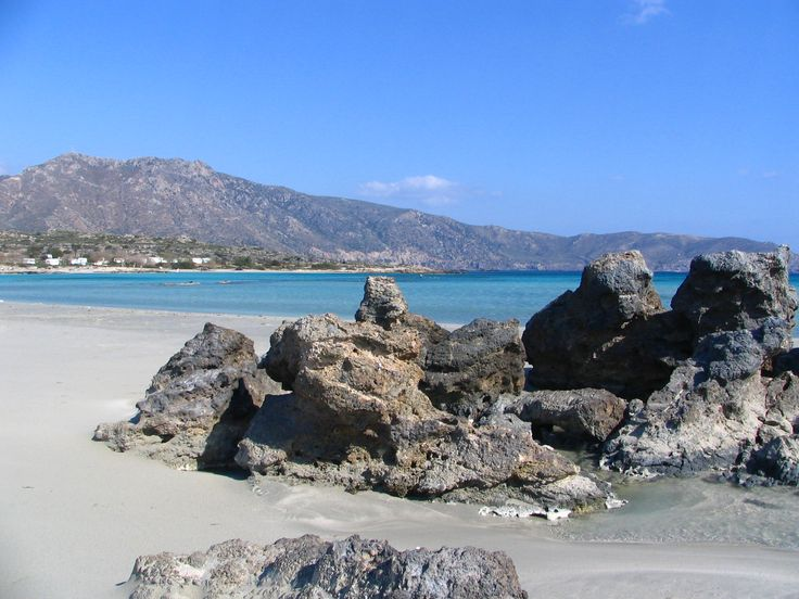 Playa de Elafonisi, suroreste de Creta, región de Chaniá