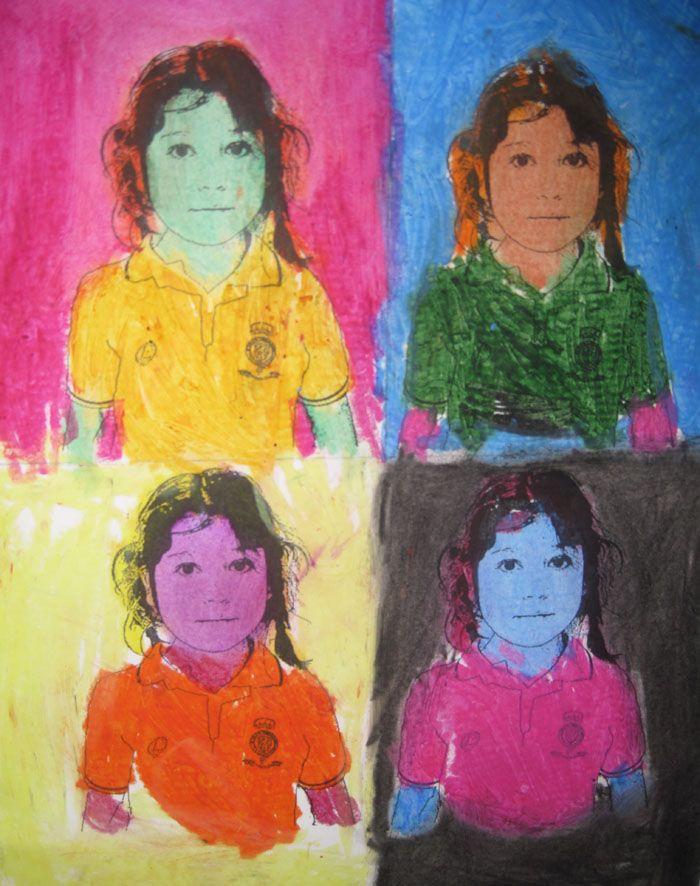 retratos pop al estilo de andy warhol