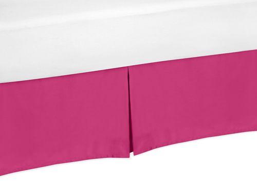 Pink Toddler Bed Skirt for Hot Pink Chevron Zigzag Bedding Sets