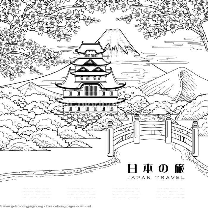 6 Japanese Painting Coloring Pages Getcoloringpages Org Coloring Coloringbook Coloringpages Japan Coloring Pages Coloring Books Japanese Painting