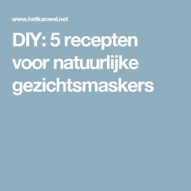 DIY: 5 recepten voor natuurlijke gezichtsmaskers