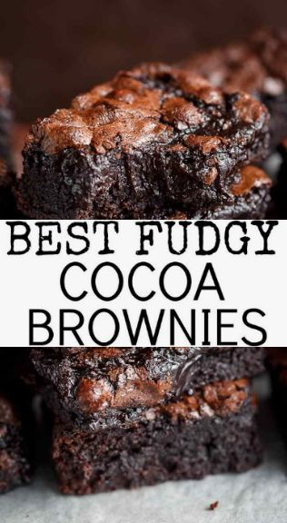 #Recipe #Brownies >> Best Fudgy Cocoa Brownies – ~02~ #yummy