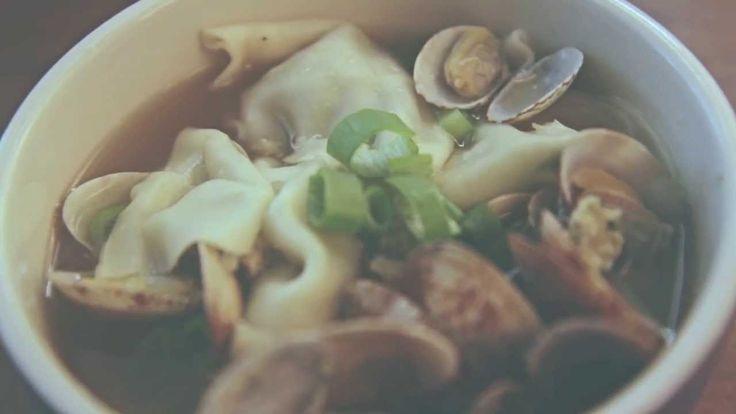 바지락 만두국 (dumpling soup with Manila clam)