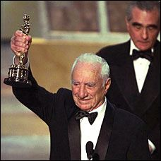 "Elia Kazan at the academy awards won for best director 1954 for ""On The Waterfront"""