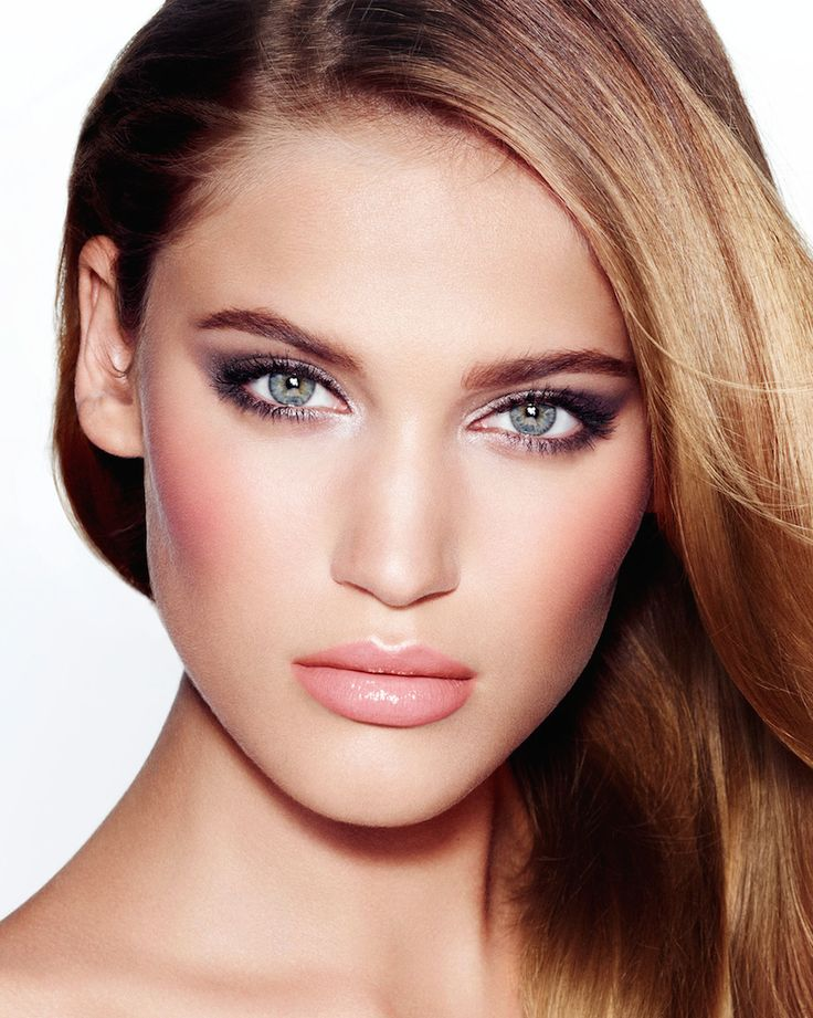 """Charlotte Tilbury The Uptown Girl """"The perfect look for the cosmopolitan life: flawless skin, a soft grey smoky eye and a pinky peachy lip. The uptown girl is made up daily to pretty, polished perfection."""""""