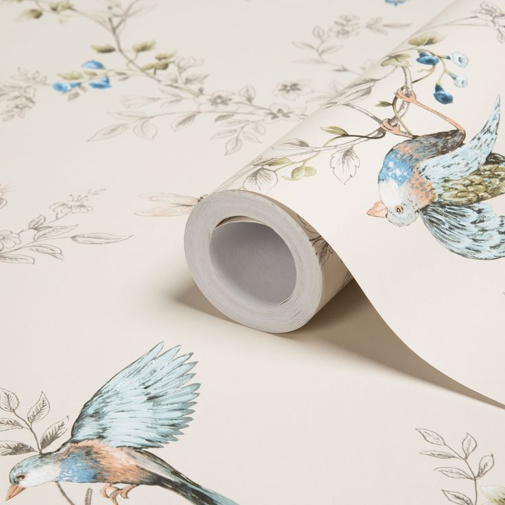 Colours Heligan Cream Birds Mica Effect Wallpaper | Departments | DIY at B&Q