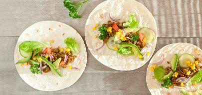 Taco med sopp og hjemmelaget tomatsalsa