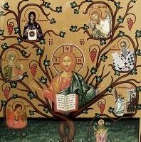 Jesse Tree Orthodox icon.