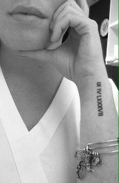 roman numerals wrist tattoos tumblr - Google Search
