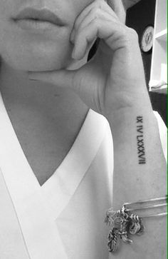 roman numerals wrist tattoos tumblr - Google Search