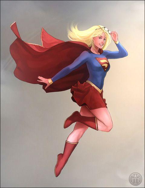 強い女代表!スーパーガールのイラスト参考に!