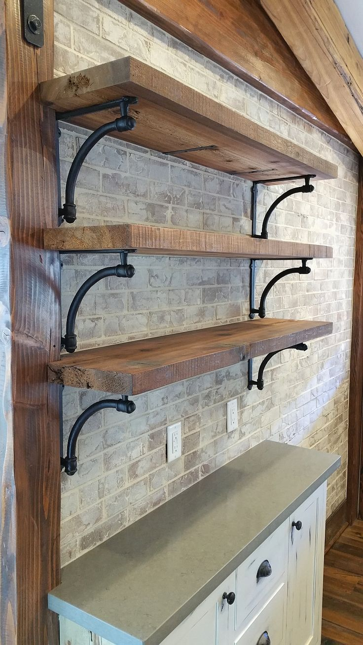 wall shelves with brackets shelves for kitchen wall brick wall shelves