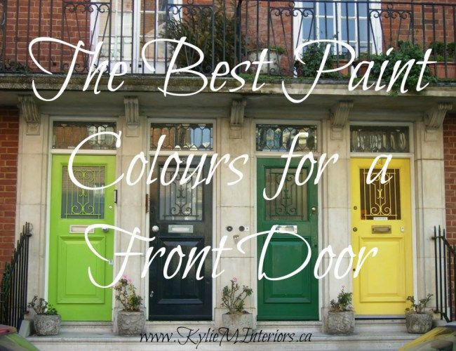 What are the best paint colours for a front door yellow Dark green front door paint