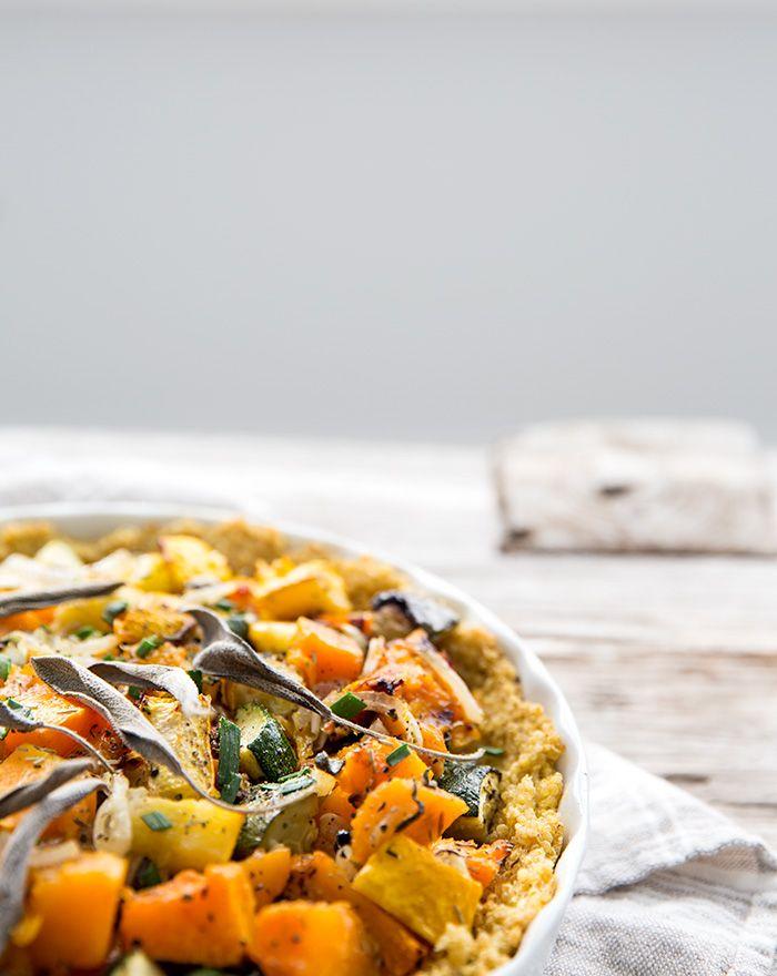 savory pumpkin pie + quinoa crust.
