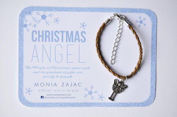 Christmas Angel Bracelet Handmade Free Shipping All by monikazajac, €19.99