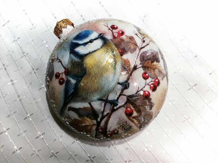 #decoupage #bauble