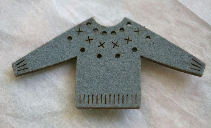 pressed felt brooch by donna smith