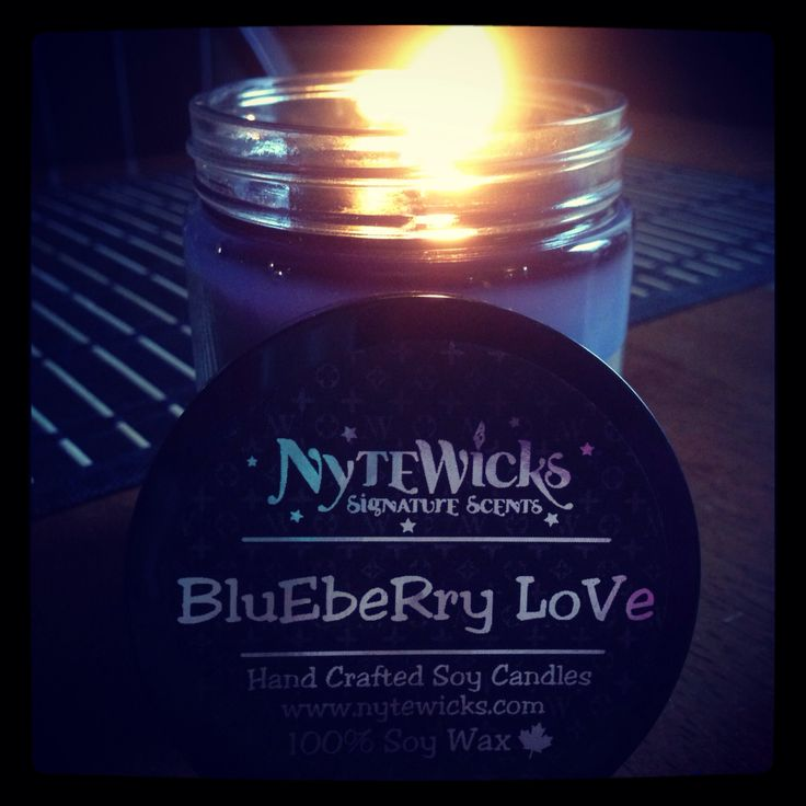 Blueberry Love - Juicy fresh blueberries and flaky pie crust! Delicious! Best Blueberry Soy Candle! Signature Handcrafted Soy Candles. Try one today!