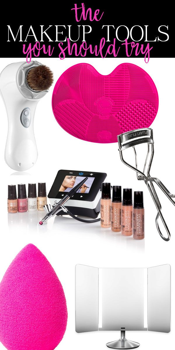 #ad It's amazing how many people haven't tried some of these makeup tools! A beautyblender is my life! Plus a great makeup mirror, airbrushed foundation... Need to try that makeup brush cleaning mat for sure!