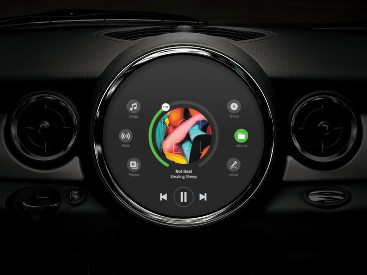 Mini Cooper Infotainment Interface – Chalk-Full