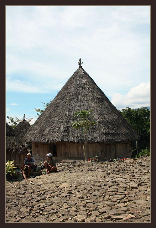 A Traditional House of Manggaraian - Pu u, Nusa Tenggara Timur- Indonesia