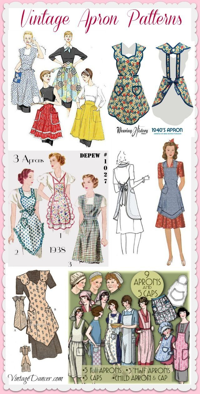 Cute Vintage Aprons, Retro Aprons and Patterns | Sewing/Patterns ...