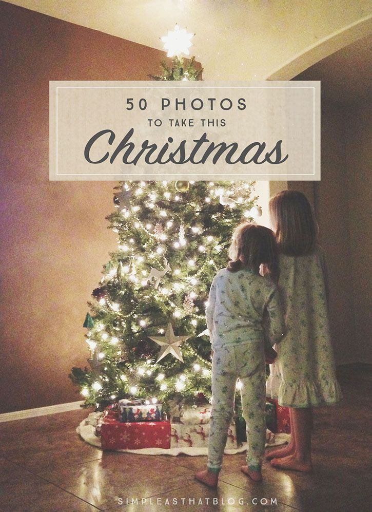 The holidays will soon be upon us and we all want to capture the wonder and beauty of this time of year. Here is a printable list of 50 Christmas photo ideas and photography prompts to get you inspired!