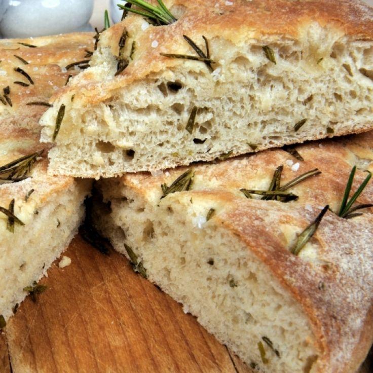 A Warm and Delicious Recipe for ITALIAN-ROSEMARY FOCACCIA Bread.