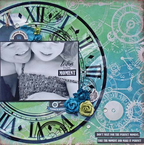 'Time Machine' Collection – Specialty Papers – Kaisercraft 'Love This Moment' by Sonia Thomason ~ Scrapbook Pages 3.