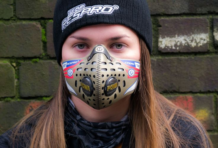 Respro® Cinqro™ Mask (Gold) #airpollution http://respro.com/store/product/cinqro-mask