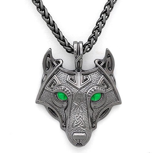 pewter norse wolf macht pendant museumreplicascom - 500×500