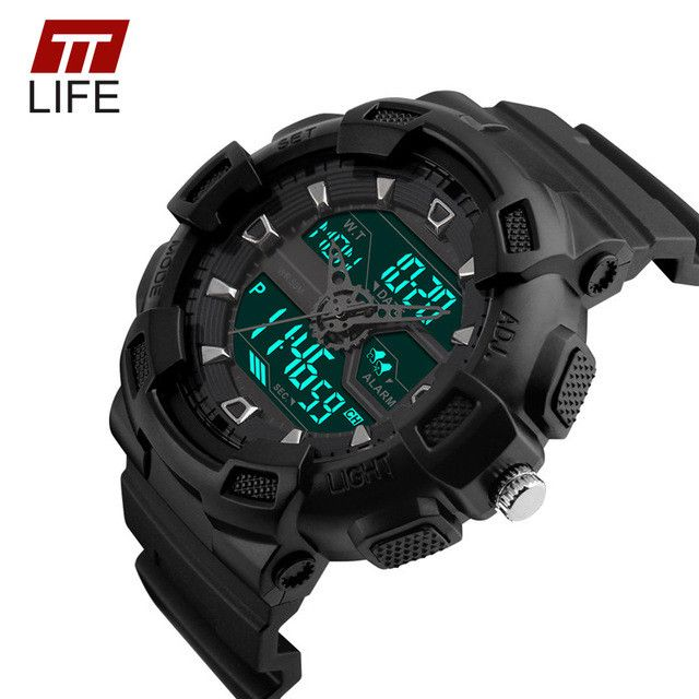 TTLIFE Sport Watch Dual Time Digital Watch Men Digital Chronograph Waterproof Mens Watch LED Military Male Clock Relojes Hombre