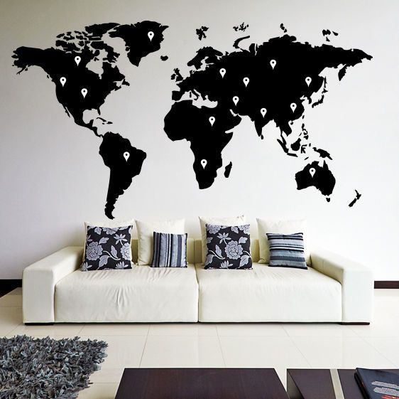 Best World Map Wall Decal Ideas On Pinterest World Map Decal - Find us on google maps stickers