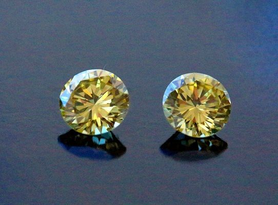 Vivid Fancy Yellow #Diamonds - Matched Pair - Absolutely amazing, very rare and gaining popularity world wide!