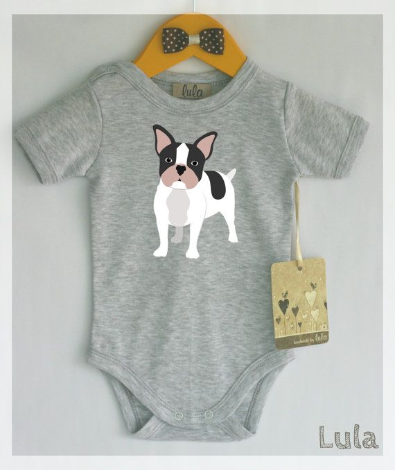 French Bulldog Baby Clothes Frenchie Best Friend Print Cute Dog