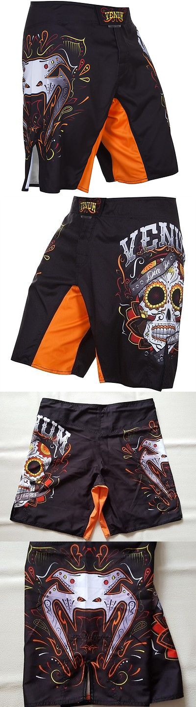 Shorts 73982: Venum Santa Muerte 2.0 Black Orange Mma Shorts - M -> BUY IT NOW ONLY: $55 on eBay!