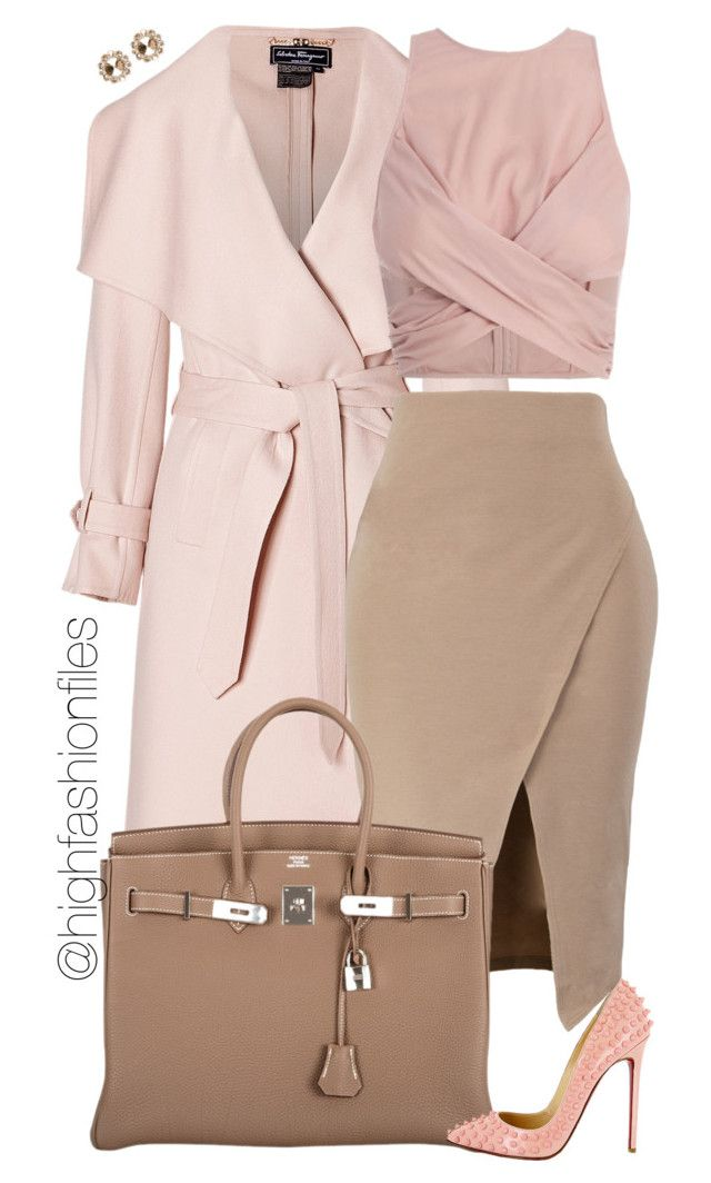"""Happy Day"" by highfashionfiles ❤ liked on Polyvore featuring mode, Salvatore Ferragamo, Zimmermann, Oscar de la Renta, Hermès, Christian Louboutin et Miu Miu"