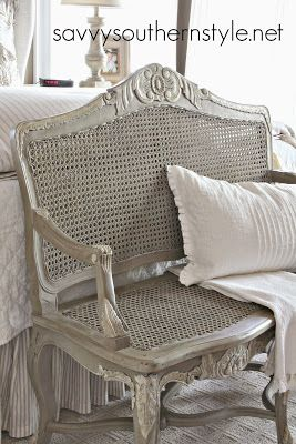 French Bench Makeover (Savvy Southern Style). Cane FurnitureFrench ...