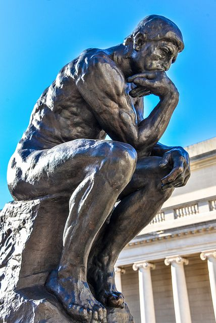 Auguste Rodin - The Thinker at California Palace of the Legion of Honor - Fine Arts Museum of San Francisco CA