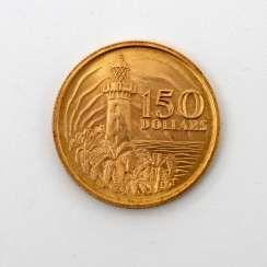 Singapur /Gold - 150 Dollars 1969, 150. Geburtstag der Gründung Malaysias, vz.,
